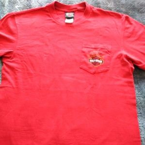 Red Harly Divedson tee